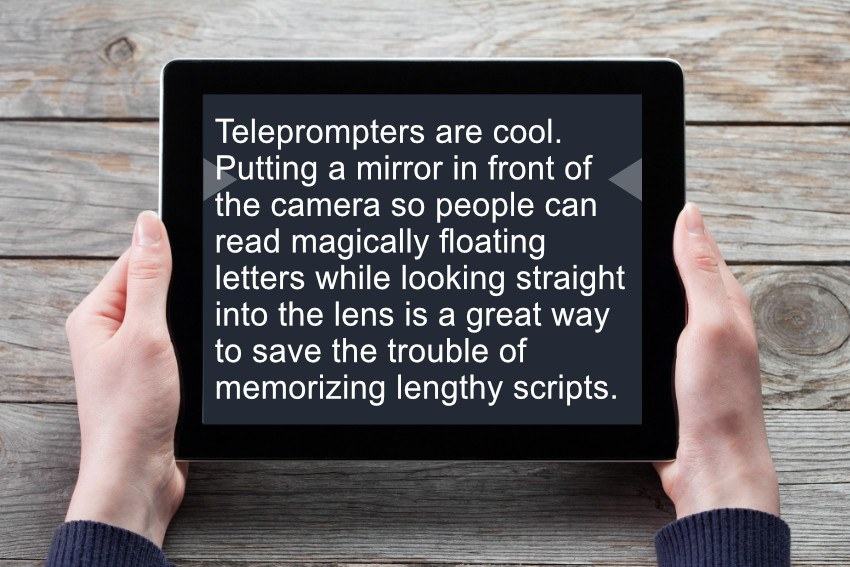 iPads make a great external monitor for your teleprompter setup